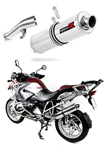 R 1200 GS Marmitta Racing Tondo Dominator Exhaust Terminale di Scarico Silenziatore 2004 2005 2006 2007 2008 2009