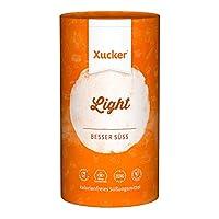NATÜRLICHER ZUCKERERSATZ: Mit gutem Gewissen zuckerfrei Naschen. Xucker Light ist die gesunde Alternative zu herkömmlichen Zucker. Er ist gut löslich, schmeckt wie Zucker, liefert jedoch keinerlei verwertbaren Kohlenhydrate. GESUND & KALORIENFREI: Xu...