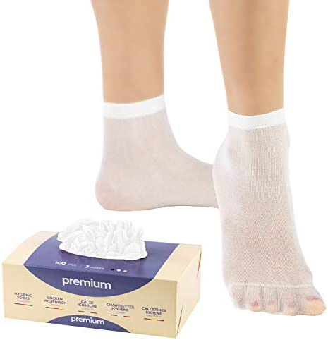 Premium Quality Disposable Socks - 100 pieces