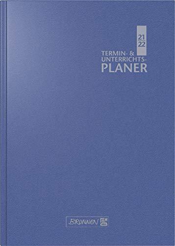 BRUNNEN 1075960302 Lehrerkalender/Termin- & Unterrichtsplaner ( Wochenkalender) 2021/2022, 2 Seiten = 1 Woche, Überformat A5: 17 x 24 cm, Baladek-Einband blau