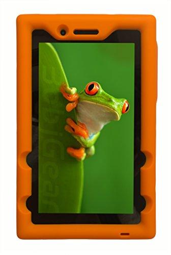 Bobj Rugged Case for Lenovo Tab 3 Essential, TB3-710F, TB3-710I, (NOT FOR Tab 7 Essential TB-7304F or any other Lenovo model) - BobjGear - Venting - Sound Amplification - Kid Friendly (Orange)