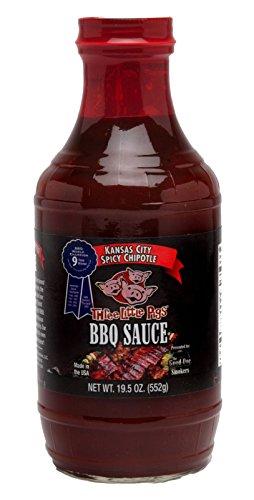Salsa BBQ Three Little Pigs BBQ Spicy Chipotle (Chipotle Picante) - 552g (19.5 oz)