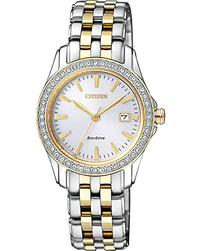 Price comparison product image Citizen Eco-Drive Classic Quartz Womens Watch,  Stainless Steel,  Crystal