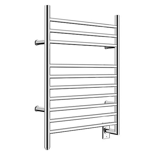 HEATGENE Hot Towel Warmer for Bath Hardwired Heated Drying Rack Straight Bars Mirror Polish