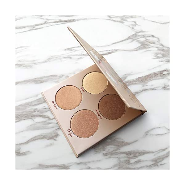 Beauty Shopping Highlighter Palette,Highlighter Makeup Palette, Glow Bronzer Highlighter Powder