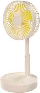Desktop USB Recargable Mini Fan Radiador 3 Velocidad Ventilador Ventilador (Color : White)