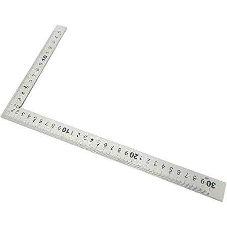 250x140mm LOVIVER Woodworking Right Angle Square Carpentry Squares Stainless Steel Ruler Tool Silver
