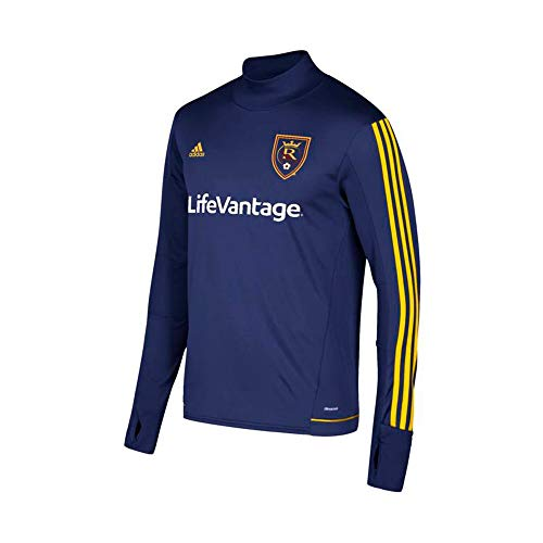 adidas Real Salt Lake MLS Men's Navy Blue Climacool Long Sleeve Training Jersey (S)