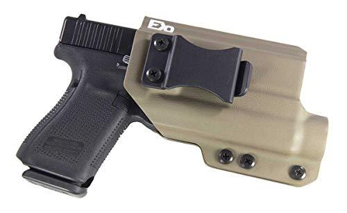 Fierce Defender TLR1 Compatible Glock 19 23 32 IWB Kydex Holster The Winter Warrior Series -Made in USA- GEN 5 Compatible (Flat Dark Earth)