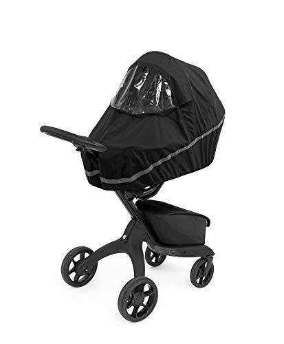 Stokke Xplory X Kinderwagen Regenschutz - Kinderwagen-Zubehör Raincover - Farbe: Schwarz