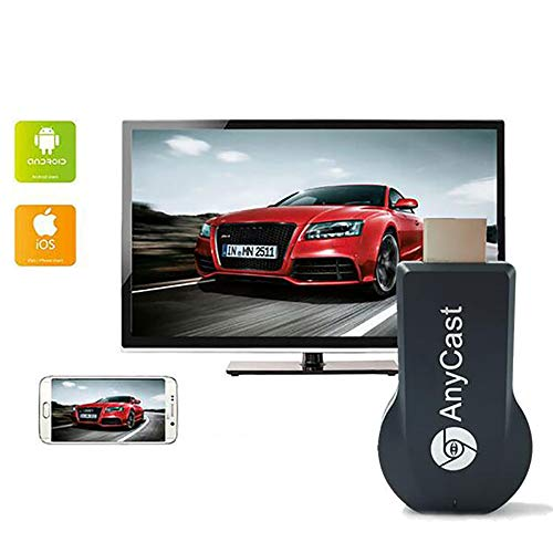 WFGZQ Dongle De Pantalla WiFi HDMI, Adaptador De Receptor De Pantalla Inalámbrico 2.4G, Compatible con Miracast Airplay DLNA para Android iOS Teléfono Inteligente PC TV Monitor Proyector