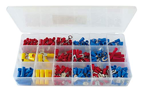 Kabelschuh - Sortiment 295 Teile Steckverbinder Flachsteckhülsen Set in Box