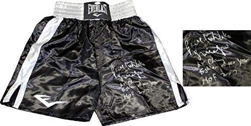 Pernell Whitaker Autographed Everlast Boxing Trunks (JSA) - Autographed Boxing Robes and Trunks