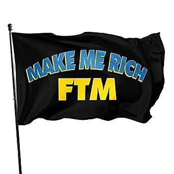 Make Me Rich Fantom Coin FTM Flag 3x5 FT Outdoor Indoor Decor- Polyester