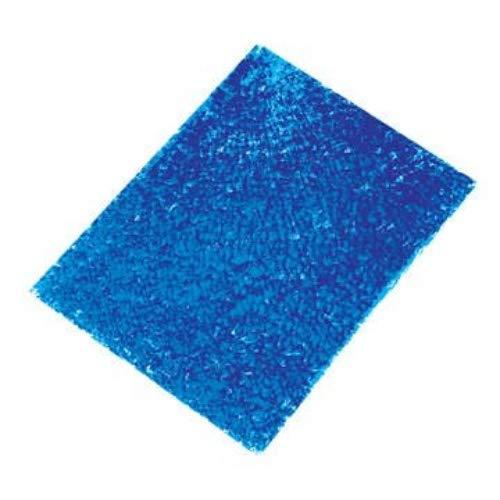 Glorex Crackle Mosaic Platte, Glas, Blau, 15 x 0.5 x 27 cm