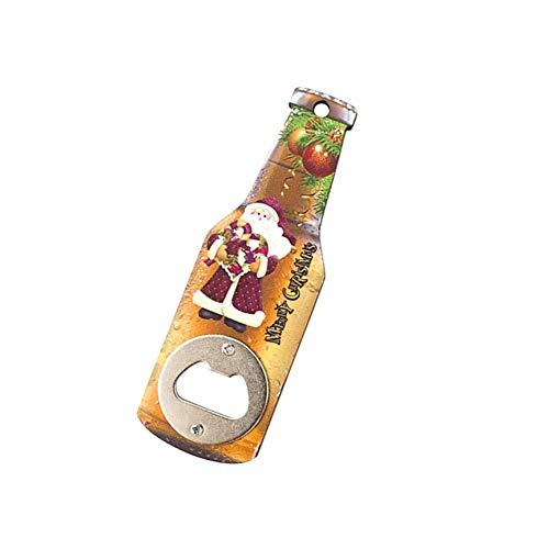 PRINDIY - Abrebotellas de Madera, decoración Creativa para la Nevera de Navidad, Pegatinas magnéticas, diseño navideño