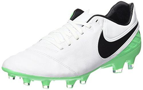 Nike Herren Tiempo Legacy II FG Fußballschuhe, Weiß White Black Electro Green, 40 EU