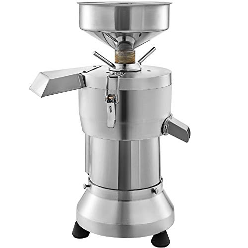VBENLEM Commercial Soybean Milk Machine, 1800W Automatic Soymilk Making Machine with 70KG/H Yield Output, 1 Extra Strainer Bag & 2 Extra Grind Wheel Set, 2800r/min, Food Grade Stainless Steel for Household and Commercial