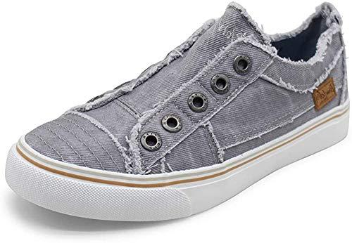 Blowfish Malibu Women's Play Sneaker (Light Gray Hipster Smoked Twill, 7.5)