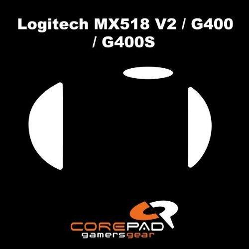 Corepad Mausfüße Skatez Pro 61 Logitech G400 - Logitech MX518 REFRESH (Version 2 - Zwei Modelle verfügbar - Bitte mit Bild abgleichen)