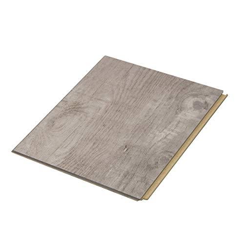 "Cali Bamboo - Cali Vinyl Plus Cork-Backed Vinyl Floor, Extra Wide, Gray Ash Wood Grain - Sample Size 5-3/4"" L x 7 1/8"" W x 7mm H"