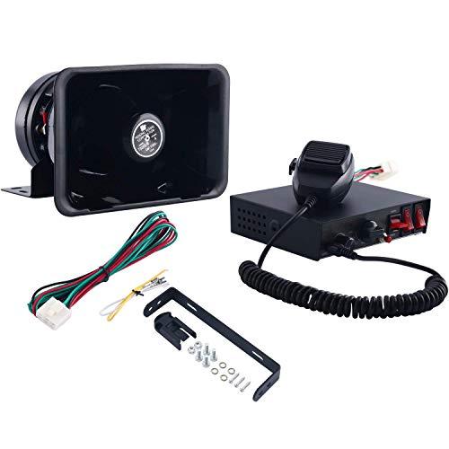 FreeTec 8 Töne Alarmanlage Signalhorn 200W Auto Horn Sirene Lautsprecher Notfallwarnung PA System Kit kommt mit Handmikrofon und Schalter Box für Polizei, Krankenwagen, Feuerweh usw.