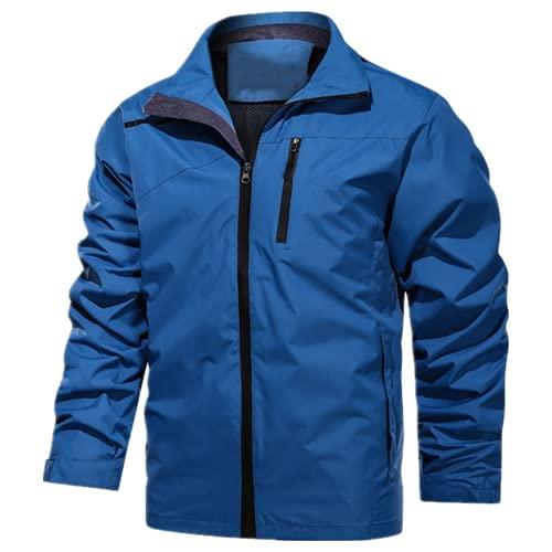 N\P Chaqueta con capucha impermeable Hombres Casual Cortavientos Chaqueta Abrigo Hombres Primavera Otoño