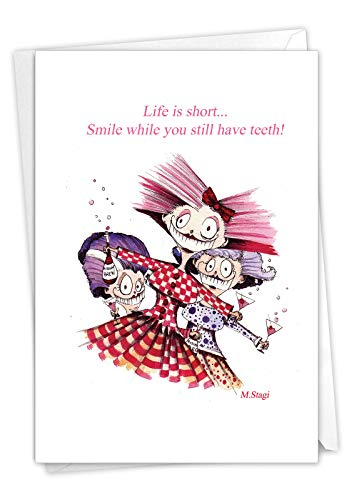 NobleWorks - 1 Happy Birthday Greeting Card Funny - Cartoon...
