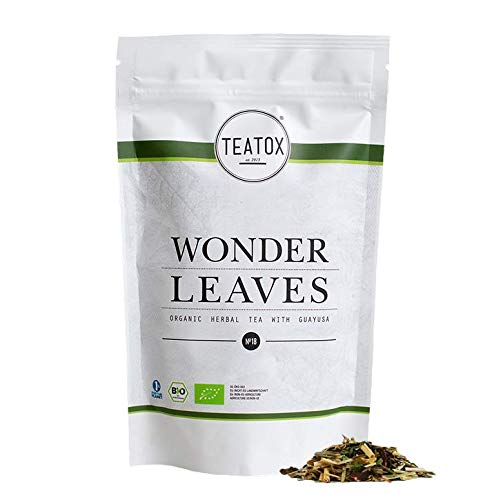TEATOX Wonder Leaves Bio, 100% natürlicher Bio Kräutertee mit Guayusa, Zitronengras, Hibiskus, Süßholzwurzel, Zitronenmyrte, Ypsokraut und Galgant,50g Tee (loser Tee im Grobschnitt im Ziplock)