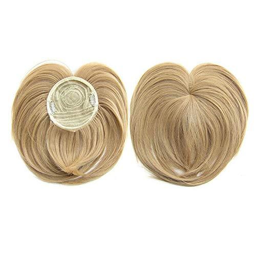 2019 Extensiones de Cabello Clip Pelo Sintético Se Ve Natural,Clip Prótesis Capilar Mujer Ampliar el Volumen en La Coronilla Flequillo Postizo Pelo Humano Hair Toppers Toupee. (18)