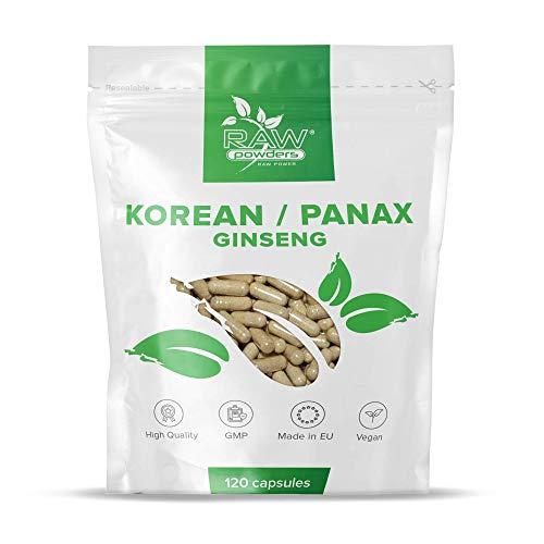 RP Panax Ginseng & Koreanischer Ginseng | 120 Vegetarische & Vegane Kapseln | Saubere Füllstoffe | Mehrjähriges Pflanzenpräparat | Hergestellt in ISO lizenzierten Einrichtungen | GMO-frei
