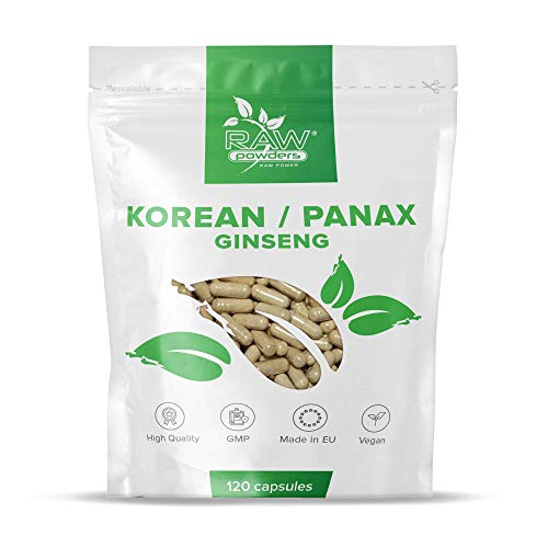 RP Panax Ginseng & Korean Ginseng | 120 Vegetarian & Vegan Capsules | Clean Fillers | Perennial Plant Supplement | Manufactured in ISO Licenced Facilities | Non - GMO | Gluten, Dairy & Allergen Free