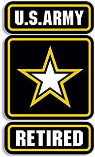us army retired window sticker