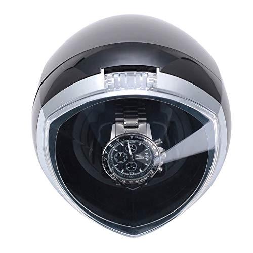 Oksmsa Soltero Cajas Giratorias para Relojes Automatico con Control Inteligente del Temporizador Y Luz LED, 4 Modo Rotativo - Negro