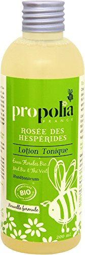 Lotion Tonique Bio - ROSEE des Hesperides - Propolia - Eaux Florales Bio - Miel Bio - Thé Vert - 200 ml - Made in France