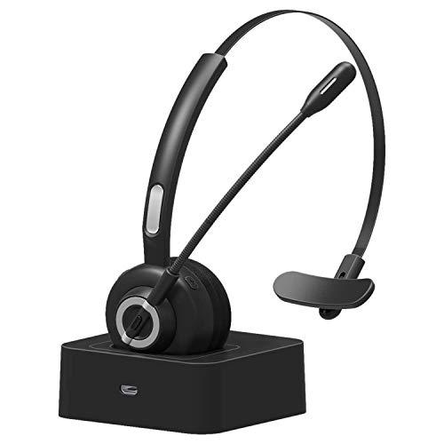 Cobeky Auriculares de centro de llamadas con micrófono de cancelación de ruido para Skype Voip teléfono celular Oficina