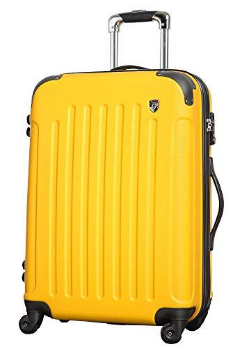 M【マットA】ミカドイエロー / newFK10371 スーツケース キャリーバッグ 軽量 TSAロック (4〜7日用) マット加工 ファスナー開閉タイプ