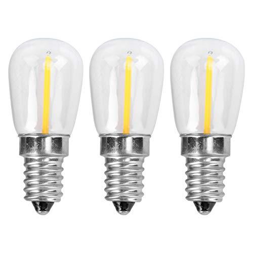SOLUSTRE 3 Piezas Led Bombilla de Luz para Frigorífico Bombillas de Nevera a Prueba de Agua 2700 K E14 Luz de Techo para Congelador 220 V 1 5 W Luz Blanca Cálida