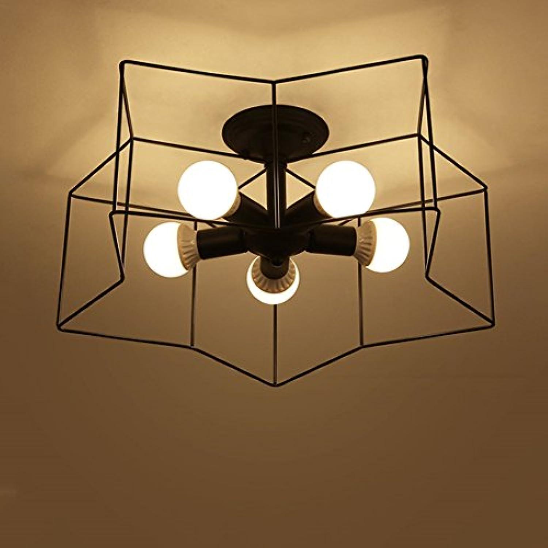 GAOWORD Vintage Eisen Deckenleuchte - Industrial Style Bar Einfache Kreative Schlafzimmer Lampe Wohnzimmer Restaurant Lichter, Nicht Cotain Birne,C