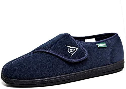 Dunlop - Zapatillas de estar por casa para hombre azul Bleu - Bleu marine 10 UK