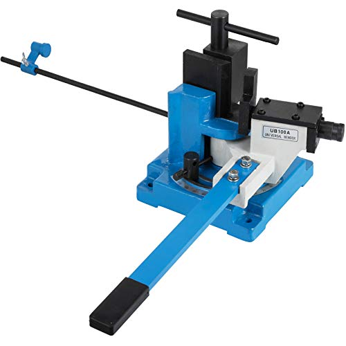 VEVOR UB-100A Universal Metal Rebar Bender, Manual Flat Steel Iron Bender with up to 120 Degree Angle, Heavy Duty Hot and Cold Metal Rod Bender for Strip Steel Flat Steel Round Steel Bending