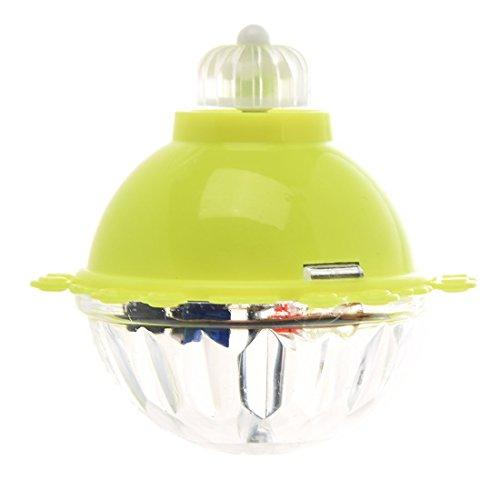 SODIAL(R) Jouet de toupie de coque en plastique jaune avec LED RGB en lumieres clignotante pour les enfants
