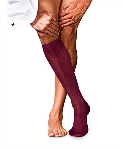 FALKE Herren No. 6 Finest Merino und Silk M KH Socken, Blickdicht, Rot (Barolo 8596), 39-40 (UK 5.5-6.5 Ι US 6.5-7.5)
