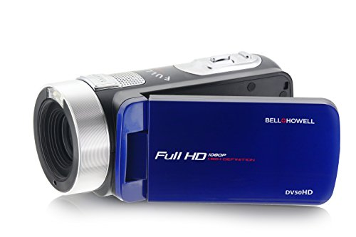 """Bell+Howell 1080p Full HD Video Camcorder with 24 MP Still Image Resolution & 3"""" Touch Screen LCD, Blue (DV50HD-BL)"""
