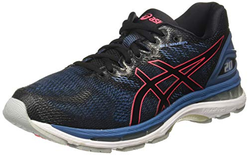Asics Gel-Nimbus 20 Hombre Running Trainers T800N Sneakers Zapatos (UK 6 US 7 EU 40, Black Azure 003)