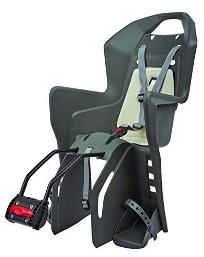 FISCHER Fahrrad Kindersitz | bis 22kg Körpergewicht | Rahmenschnellbefestigung | 3-Punkt-Sicherheitsgurt | ergonomische Sitzschale