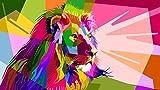 Puzzle 1000 Piezas, Puzzle Educational Game Juguete para aliviar estrés Juego Intelectual Cerebro Desafío León colorido