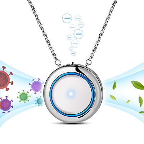 WOOLALA Personal Wearable Air Necklace Portable Ionic Air Necklace Low Noise for Adults Kids