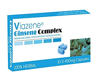 Ultra Strong Viazene's Ginseng Complex 450mg - (10 Capsules) New & Effective Herbal Supplement for Men - Performance, Energy, Stamina & Endurance, 100% Natural, 100% Money Back Guarantee
