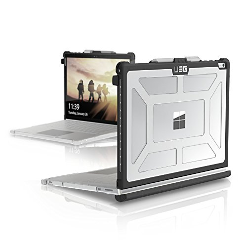 URBAN ARMOR GEAR UAG Microsoft Surface Book 3, 2, 1, & Performance Base Case [13.5-inch Screen] Feather-Light Rugged [Ice] Military Drop Tested Laptop Case